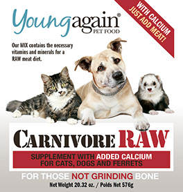 Carnivore Raw with Calcium. For those feeding a raw diet and NOT grinding bone.